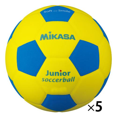 スマイルサッカー軽量4号 青(5個)【返品・交換・キャンセル不可】【イージャパンモール】