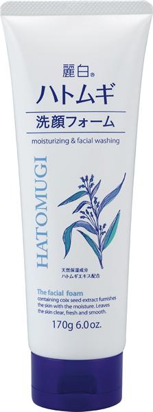 熊野油脂 麗白 ハトムギ洗顔フォーム 170g ×48個【イージャパンモール】