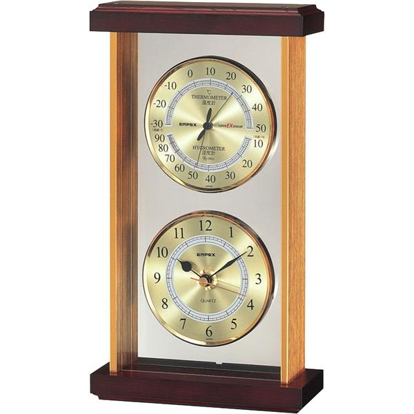 【送料無料】エンペックス スーパーEX温・湿度・時計 EX-742【代引不可】【ギフト館】