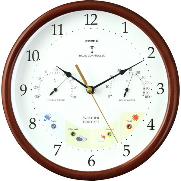 【送料無料】エンペックス ウエザーパル電波時計 BW-873【代引不可】【ギフト館】