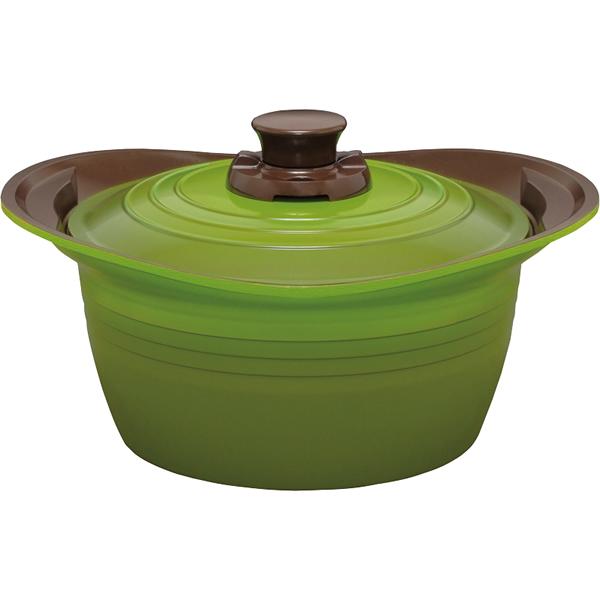【送料無料】無加水鍋24cm深型 グリーン MKSS-P24D【代引不可】【ギフト館】