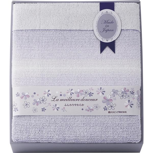 【送料無料】西川リビング メイユール 日本製ロングサイズタオルケット 2241-00024【代引不可】【ギフト館】