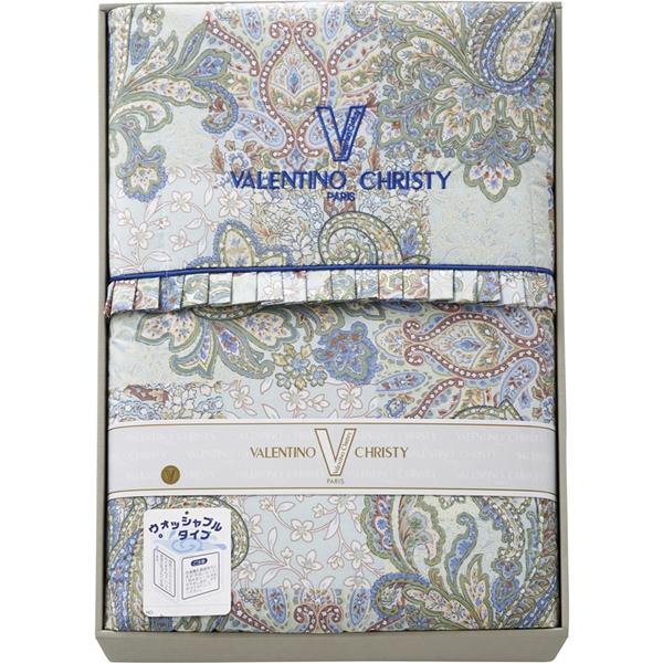 【送料無料】ヴァレンティノ・クリスティー ウォッシャブル羽毛肌掛けふとん ブルー VCF-315-3【代引不可】【ギフト館】
