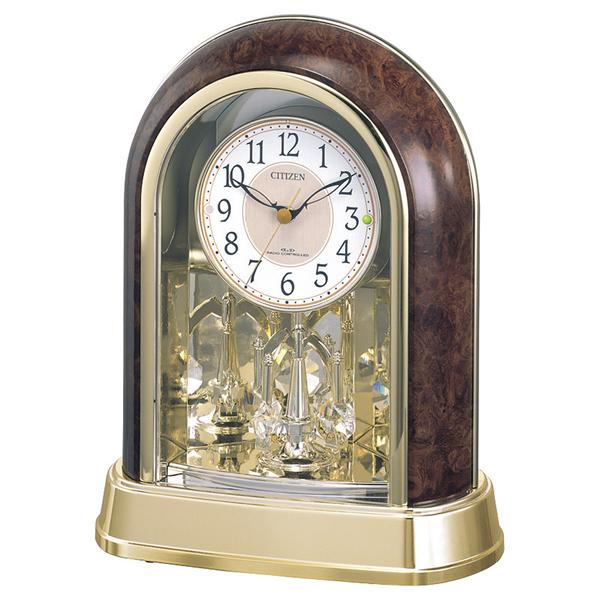 【送料無料】シチズン 回転飾り付電波置時計 4RY656-023【代引不可】【ギフト館】