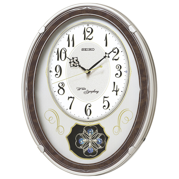 【送料無料】セイコー ウエーブシンフォニー 電波正時メロディ掛時計  AM259B【代引不可】【ギフト館】