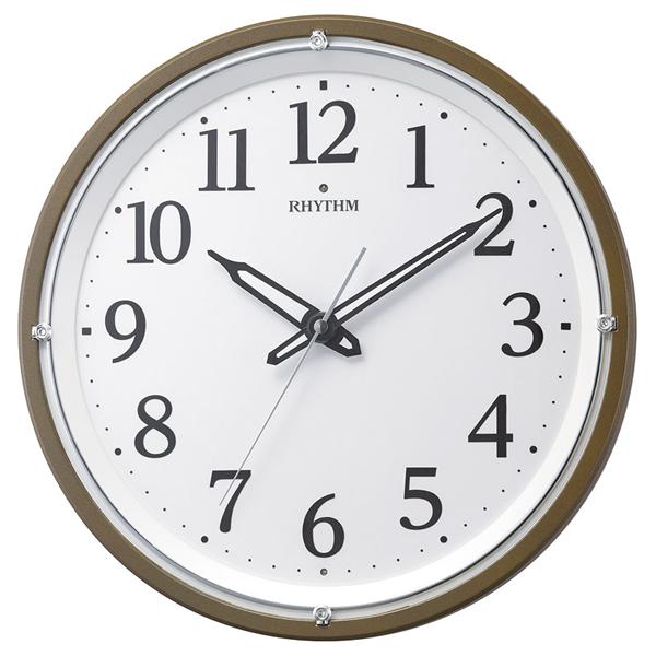 【送料無料】RHYTHM リバライト電波掛時計 8MY532SR06【代引不可】【ギフト館】