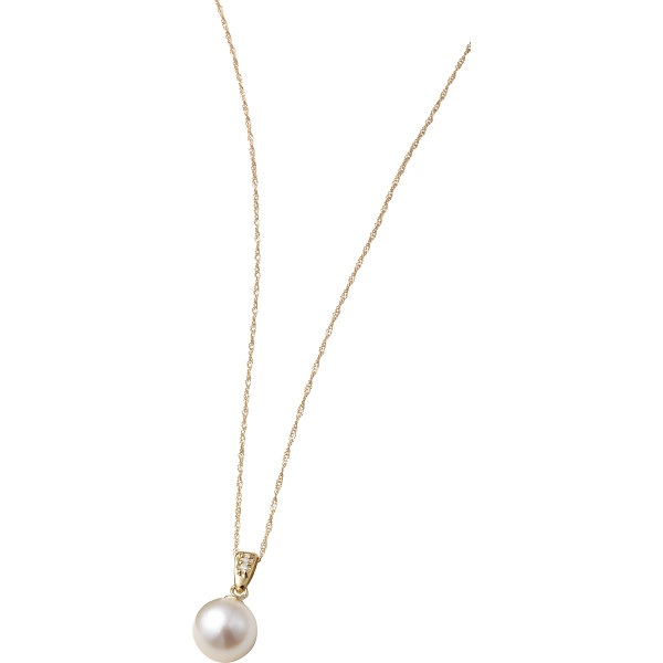 【キャッシュレス5%還元】【送料無料】18金本真珠ダイヤペンダント S8068【代引不可】【ギフト館】