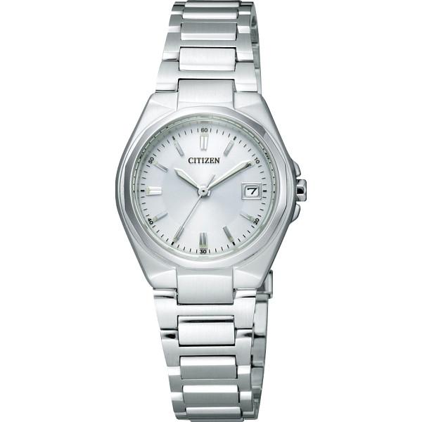 【キャッシュレス5%還元】【送料無料】シチズン レディース腕時計 ホワイト EW1381-56A【代引不可】【ギフト館】