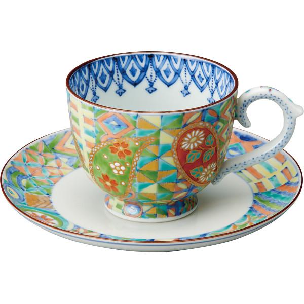 珈琲碗皿 色絵ペイズリー 【送料無料】清水焼 CCP508【代引不可】【ギフト館】
