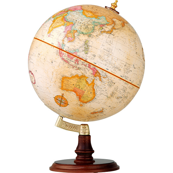 【送料無料】リプルーグル地球儀 クランブルック型 日本語版 ブラウン 31470【代引不可】【ギフト館】