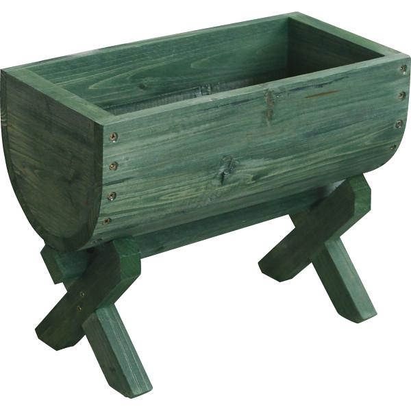 【キャッシュレス5%還元】【送料無料】樽型プランター12個組 グリーン 300G-12【代引不可】【ギフト館】
