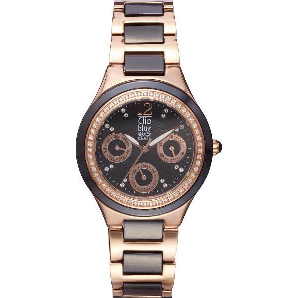 【キャッシュレス5%還元】【送料無料】クリオブルー レディース腕時計 ブラック W-CLL15228BK【代引不可】【ギフト館】