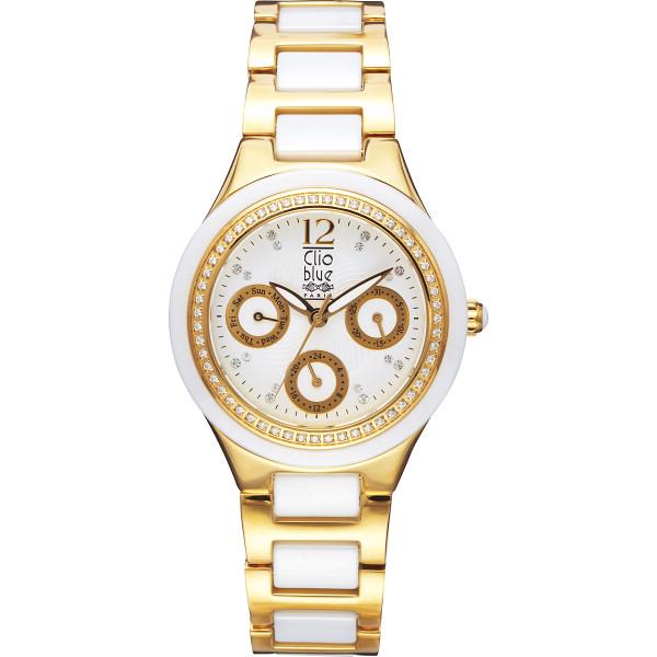 【キャッシュレス5%還元】【送料無料】クリオブルー レディース腕時計 ホワイト W-CLL15228WT【代引不可】【ギフト館】