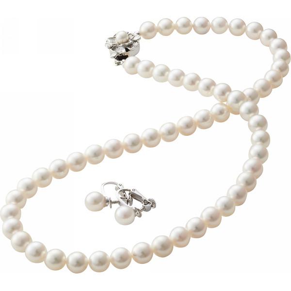 【キャッシュレス5%還元】【送料無料】あこや本真珠ネックレスセット(保証書付き) NS70ESET【代引不可】【ギフト館】