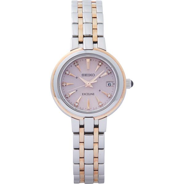 【送料無料】セイコー エクセリーヌ ソーラー電波レディース腕時計 SWCW018【代引不可】【ギフト館】