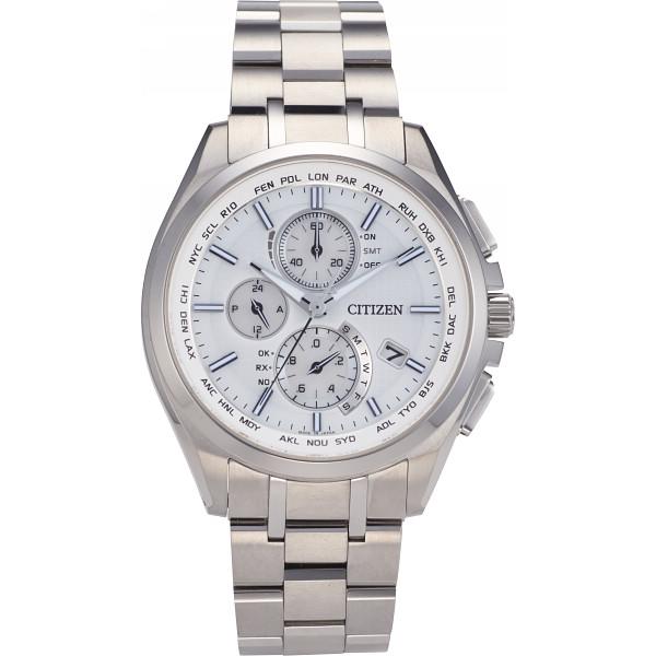 【送料無料】シチズン アテッサ ダイレクトフライト メンズ電波腕時計 シルバー AT8040-57A【代引不可】【ギフト館】