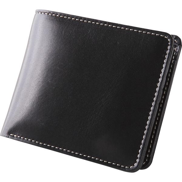 【送料無料】m,i,u,o.j ヌメ革 二つ折財布 ブラック OJ-1503【代引不可】【ギフト館】
