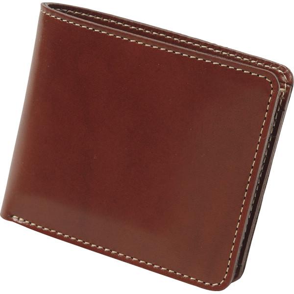 【送料無料】m,i,u,o.j ヌメ革 二つ折財布 チョコ OJ-1503【代引不可】【ギフト館】