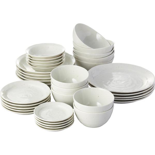 【キャッシュレス5%還元】【送料無料】斑点雪粉引 皿鉢丼35点食器ホームセット KP11‐HY17AE7I35【代引不可】【ギフト館】