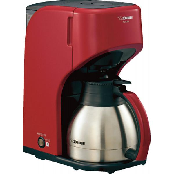 【送料無料】象印 コーヒーメーカー ステンレスサーバータイプ(5杯用) レッド EC-KT50-RA【代引不可】【ギフト館】