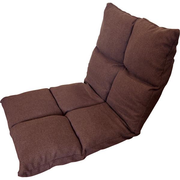 【キャッシュレス5%還元】【送料無料】高反発フリーリクライニング座椅子 ブラウン KPGCR-168BR【代引不可】【ギフト館】