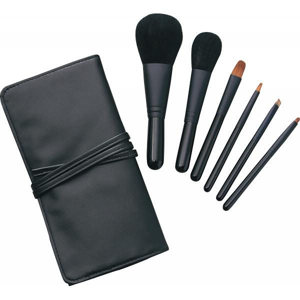 【キャッシュレス5%還元】【送料無料】熊野化粧筆セット 筆の心 ブラシ専用ケース付き KFi-K206【代引不可】【ギフト館】