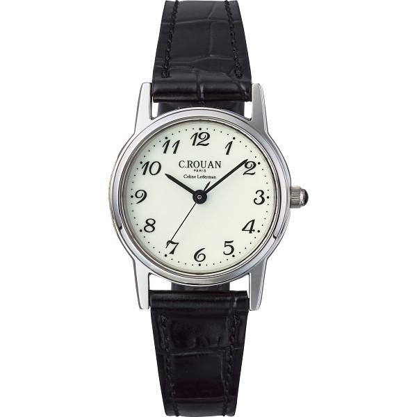 【キャッシュレス5%還元】【送料無料】セ・ルーアン レディース腕時計 ブラック RO-055LB-01CR【代引不可】【ギフト館】