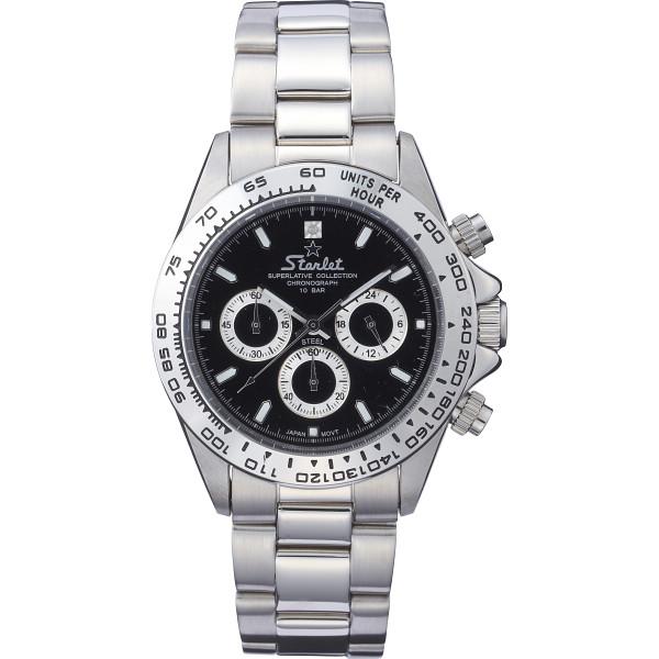 【送料無料】スターレット クロノグラフ メンズ腕時計 ST-004M【代引不可】【ギフト館】