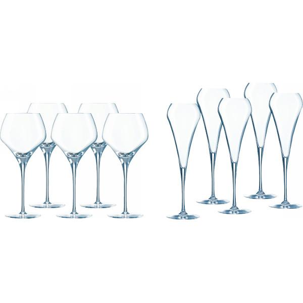 【キャッシュレス5%還元】【送料無料】シェフ&ソムリエ オープンナップ 5人用ワイングラスセット CS020【代引不可】【ギフト館】