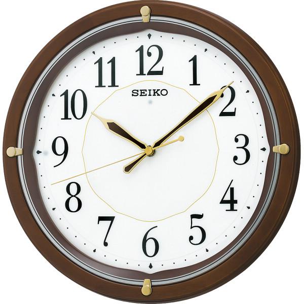 【送料無料】セイコー 文字板自動点灯電波掛時計 KX202B【代引不可】【ギフト館】