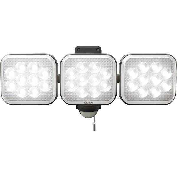 【キャッシュレス5%還元】【送料無料】12W×3灯フリーアーム式 LEDセンサーライト LED-AC3036【代引不可】【ギフト館】