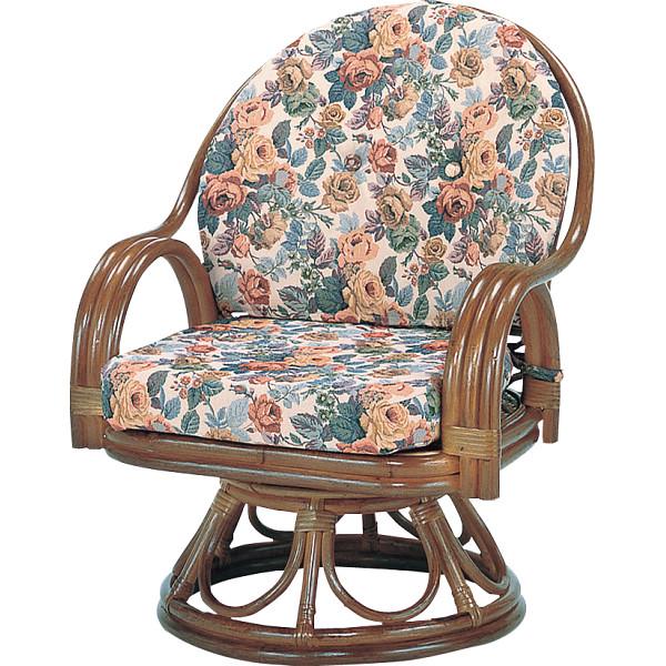 【キャッシュレス5%還元】【送料無料】籐回転座椅子 ミドルハイタイプ H28S583B【代引不可】【ギフト館】