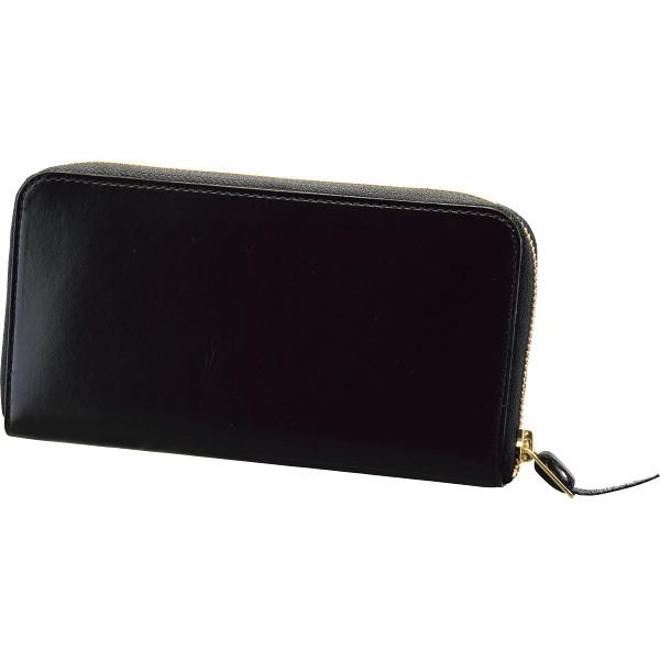 【送料無料】手塗りオイルレザー ラウンドファスナー長財布 ブラック TA45-01【代引不可】【ギフト館】