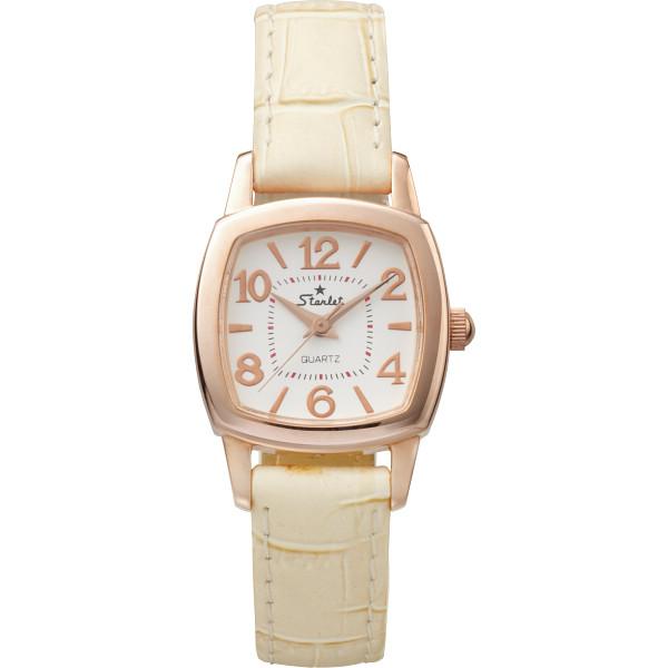 【キャッシュレス5%還元】【送料無料】スターレット ドレスレディース腕時計 ピンクゴールド ST-062LG-06-FC【代引不可】【ギフト館】