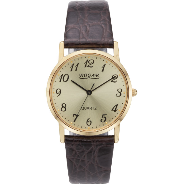 【キャッシュレス5%還元】【送料無料】ロガール メンズ腕時計 ゴールド RO-060MA-05【代引不可】【ギフト館】