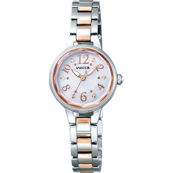 【キャッシュレス5%還元】【送料無料】ウィッカ レディース腕時計 シルバー KH8-519-93【代引不可】【ギフト館】