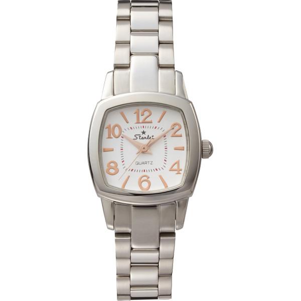 【キャッシュレス5%還元】【送料無料】スターレット レディース腕時計 シルバー ST-062LP-M-FC【代引不可】【ギフト館】
