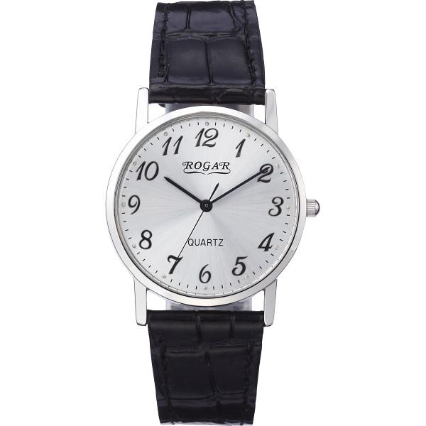 【送料無料】ロガール メンズ腕時計 シルバー RO-060MB-01【代引不可】【ギフト館】