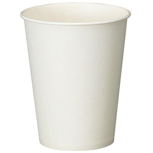 紙コップ ホワイト 275ml(9オンス) 1セット(2500個:100個×25パック)