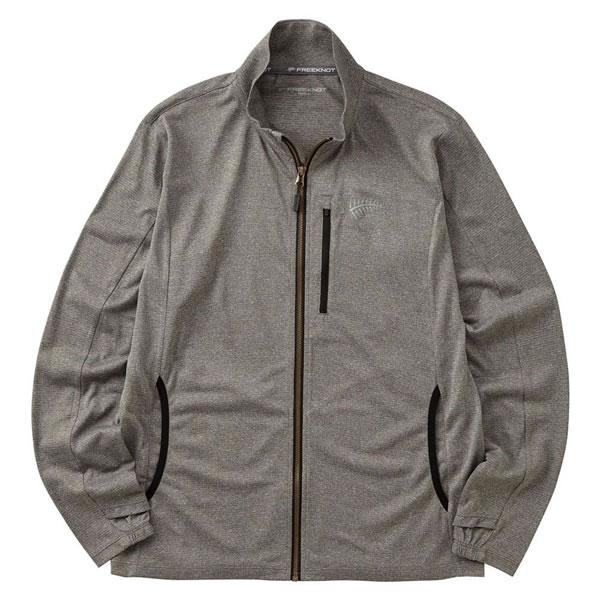 【キャッシュレス5%還元】【送料無料】BOWBUWN ジップアップジャケット 杢グレー Y1440-M-94【生活雑貨館】