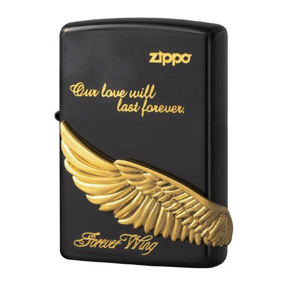 【キャッシュレス5%還元】【送料無料】ZIPPO フォーエバーウイング BK 2-44b (♯200) 70575【生活雑貨館】