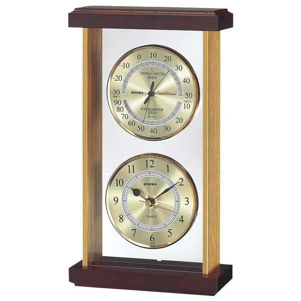 【キャッシュレス5%還元】【送料無料】エンペックス スーパーEX温・湿度・時計 EX-742【代引不可】【ギフト館】