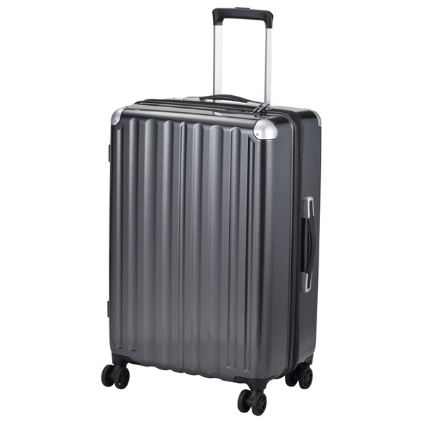 【キャッシュレス5%還元】【送料無料】スーツケース 66? カーボンブラック ALI-6008-24 CBK【代引不可】【ギフト館】