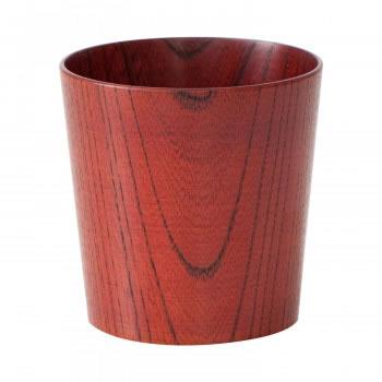 【送料無料】木のコップ 欅 漆赤 5個セット【生活雑貨館】