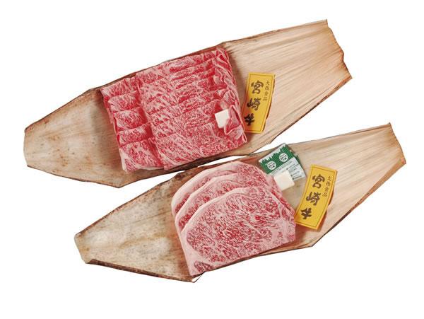 宮崎牛サーロインステーキ&すき焼き
