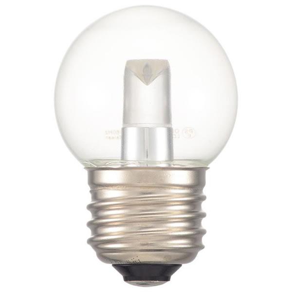 超定番 送料無料 時間指定不可 OHM LEDミニボール球装飾用 G40 E26 1.4W 13C LDG1N-H クリア昼白色 生活雑貨館 70lm
