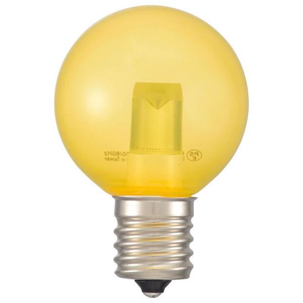 送料無料 OHM LEDミニボール球装飾用 G40 E17 1.2W 52lm 13C LDG1Y-H-E17 一部予約 新作入荷!! クリア黄色 生活雑貨館
