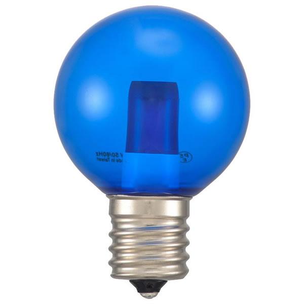 35%OFF 送料無料 OHM 期間限定で特別価格 LEDミニボール球装飾用 G40 E17 1.2W 1lm 13C 生活雑貨館 クリア青色 LDG1B-H-E17