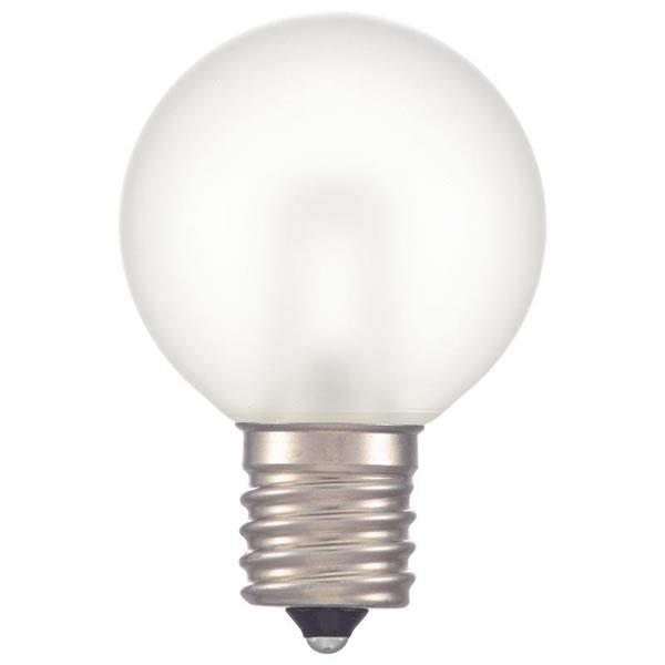 送料無料 OHM LEDミニボール球装飾用 G40 E17 1.2W 返品交換不可 フロスト電球色 50lm お気に入 13F LDG1L-H-E17 生活雑貨館