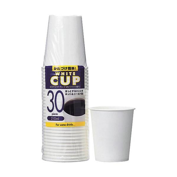 【送料無料】アートナップ WBホワイトカップ 210ml 30個×60 WB-10【生活雑貨館】
